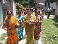 Inviting Goddess Ganga - Hindu Sacred Thread Ceremony - Simurali 2009-04-05 4050050.JPG