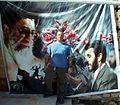 Iran 2007 235 Ayatollah Seyed Ali Hosseini Khamenei, David Holt and Mahmoud Ahmadinejad at Golestan e shohada Isfahan (1732774180).jpg