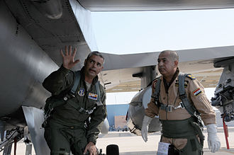 Iraqi Air Force - An Iraqi Air Force Commander at an F-16 training session in Arizona.