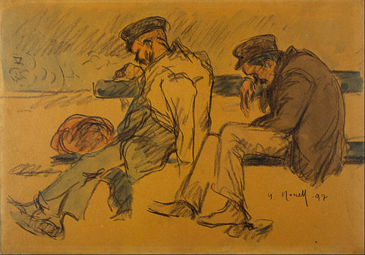 Isidre Nonell - Two Poor Men Sleeping - Google Art Project