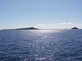Isla Caja de Muertos, Ponce Puerto Rico, looking Southeast from Puerto Rico's mainland southern shore