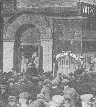 Italian Hall - Saloon and doorway to the second floor hall in 1913