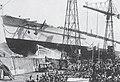 Italian battleship Francesco Caracciolo launching.jpg