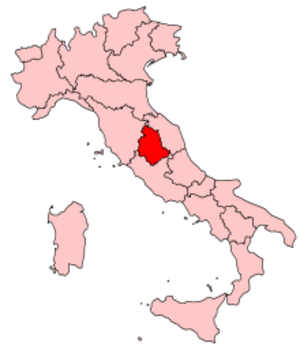 Music of Umbria - Image: Italy Regions Umbria Map