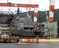 JS Suzutsuki under construction at Mitsubishi Nagasaki, -6 Oct. 2012 b.jpg
