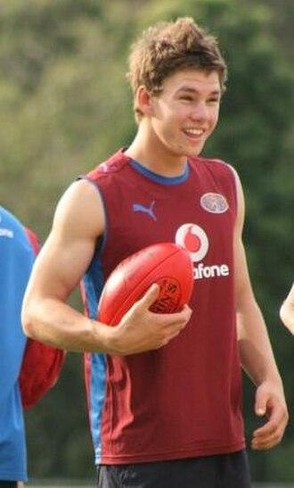 Jack Redden - Jack Redden at Brisbane Lions pre-season training, December 2008.