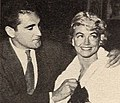 Jacques Bergerac with Dorothy Malone, 1960.jpg