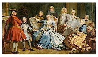 Madame Mercier entourée de sa famille