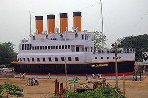 Baripada - Jagadhatri Puja Torana 2006 designed as Titanic Ship