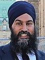 Jagmeet Singh at the 2nd National Bike Summit - Ottawa - 2018 (42481105871) (cropped).jpg