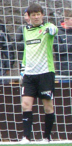 Jakup Mikkelsen Faroese Goal Keeper 2012.jpg