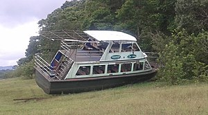 2009 Thekkady boat disaster - Jalakanyaka kept on shore (as of 2013 June 2)