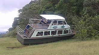 2009 Thekkady boat disaster - Jalakanyaka kept on shore (as of 2013 June 2)