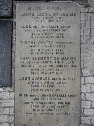 James Loch - Funerary monument, Brompton Cemetery, London