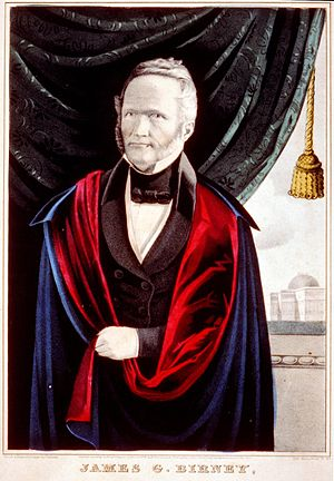 Cincinnati riots of 1836 - James G. Birney, abolitionist publisher whose press was twice destroyed during the riots.