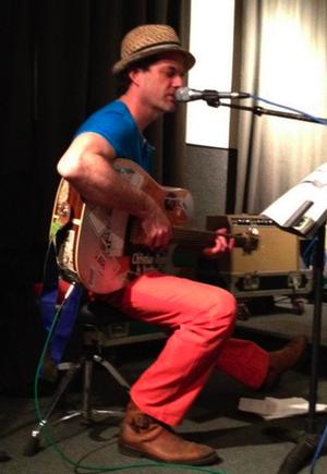 Jamie Block - Block performing in studio