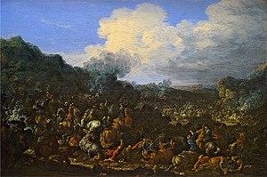 Jan Baptist van der Meiren - Cavalry battle