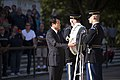 Japan's former minister of finance lays a wreath at the Tomb of the Unknown Soldier in Arlington National Cemetery (30266499315).jpg