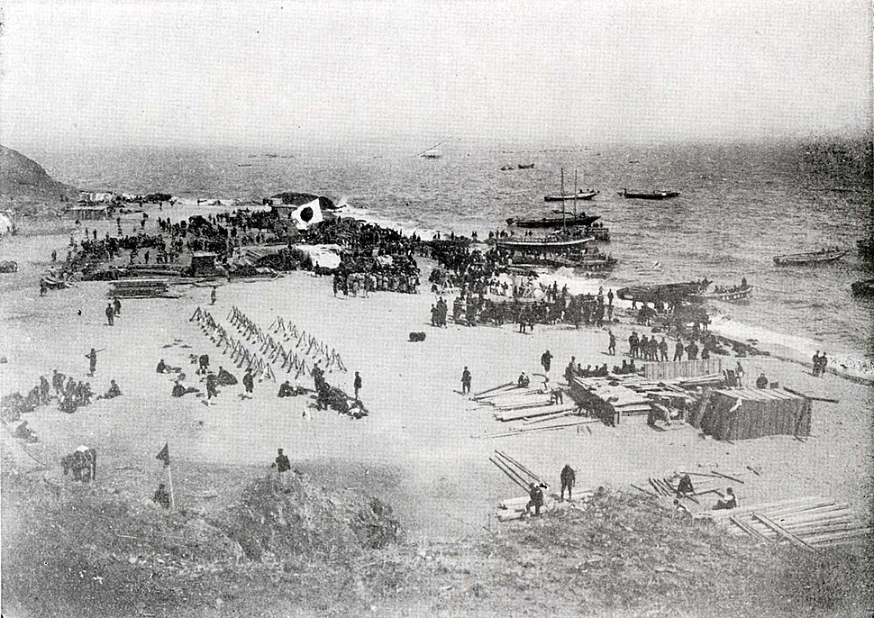 Japanese Army Landing on the Liaodong Peninsula 1