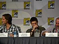 Jared Padalecki, Jensen Ackles & Eric Kripke (4852058435).jpg