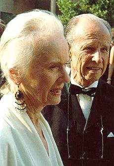 Jessica Tandy og Hume Cronyn på Emmygallaen 1988.