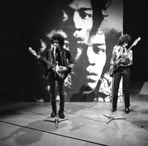 Jimi Hendrix and Noel Redding during a Jimi He...