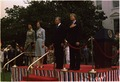 Jimmy Carter and Rosalynn Carter host arrival ceremony for German Chancellor Helmut Schmidt and Mrs. Helmut Schmidt. - NARA - 175448.tif