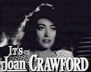 Joan Crawford in a movie trailer