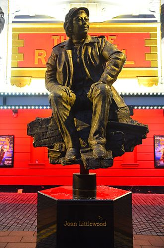 Joan Littlewood - Philip Jackson's sculpture of Joan Littlewood at Theatre Royal Stratford