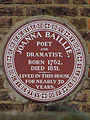 Joanna Baillie poet and dramatist born 1762 died 1851 lived in this house for nearly 50 years.jpg