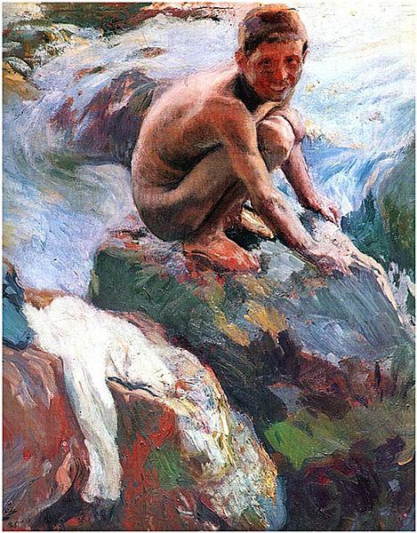 File:Joaquín Sorolla - Niño en las rocas, Javea.jpg