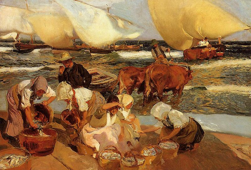 File:Joaquin Sorolla Beach at Valencia or Afternoon Sun.jpg