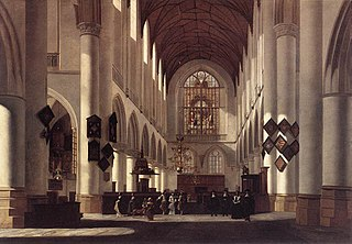 Interior of the St. Bavochurch in Haarlem