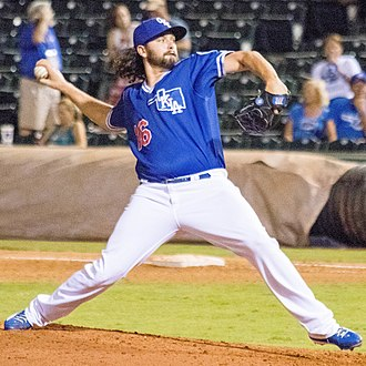 Los Angeles Dodgers minor league players - Broussard with the Oklahoma City Dodgers