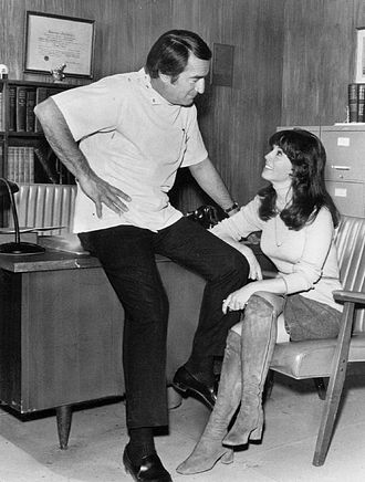 Denise Alexander - Alexander with John Beradino on General Hospital, 1973.