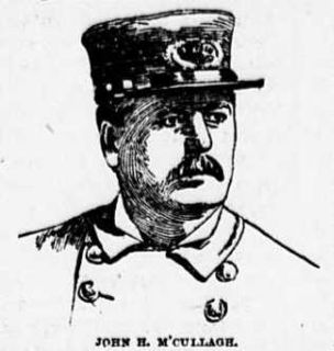 John H. McCullagh NYPD police captain who fought against Tub of Blood Bunch, the Battle Row and Hells Kitchen Gangs during the 1860s, 70s and 80s.