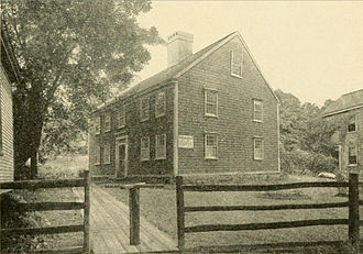 John Howland - The Jabez Howland House in Plymouth, Massachusetts, built c. 1667 and photographed in 1921.  Elizabeth (Tilley) Howland lived there for five years.
