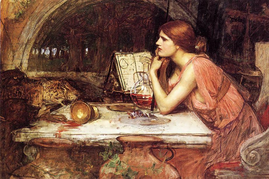 John William Waterhouse - Sketch of Circe, 1911-1914