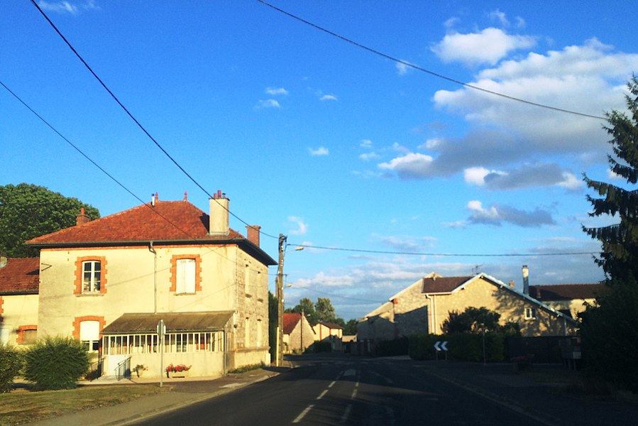 View from the small town of Jonchery on the Suippe river in Northern France / Champagne area.