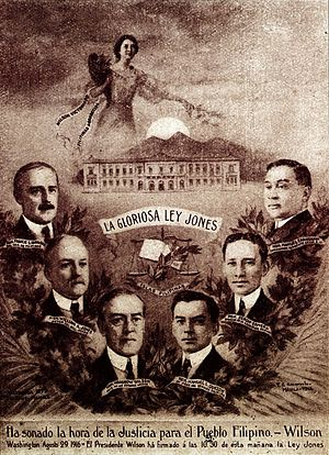 Jones Law (Philippines) - A poster advertising the passage of  the Jones Law
