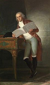Retrato del Duque de Alba, 1795. Gran aficionado a la música de cámara, aparece apoyado en un clave, donde reposa una viola, su instrumento favorito. Tiene abierta en sus manos una partitura de Haydn.
