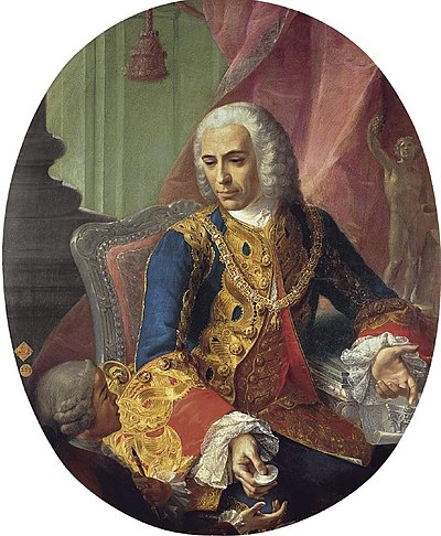 Jose de Carvajal y Lancaster, leader of the pro-British faction in King Ferdinand VI's court. Jose de Carvajal y Lancaster.jpg