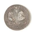 Jubileumsmynt, 1721. Frånsida; Gustav I samt Gustav II Adolf - Skoklosters slott - 109313.tif
