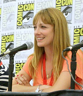 Greer at Comic-Con International in July 2010.