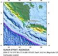 July 19 2006 Sunda strait Earthquake location.jpg