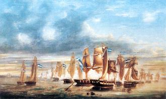 Brazil–Uruguay relations - The Battle of Juncal, during the Cisplatine War.