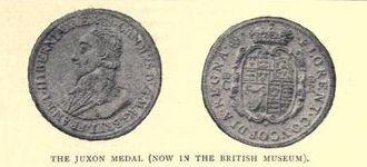 "Thomas Rawlins - The ""Juxon medal"""