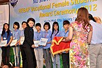 KC Choe of USAID Vietnam presents Female Vocational Student Scholarships (8382062169).jpg