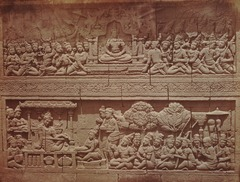 KITLV 90014 - Isidore van Kinsbergen - Reliefs on the Borobudur near Magelang - Around 1900.tif