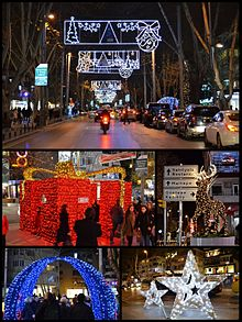 new years eve decorations in kadky istanbul